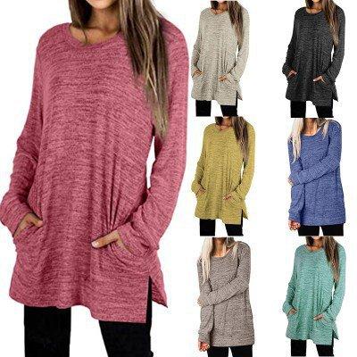 Ultra-Soft Casual Plus Size Tunic Sweatshirt Pullover
