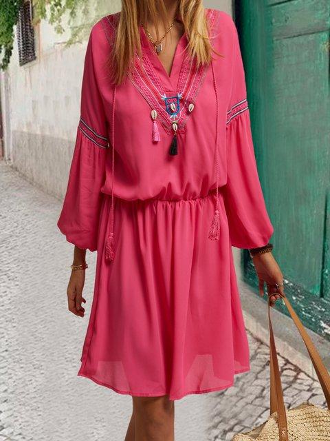 V Neck Women Summer Dresses Dresses
