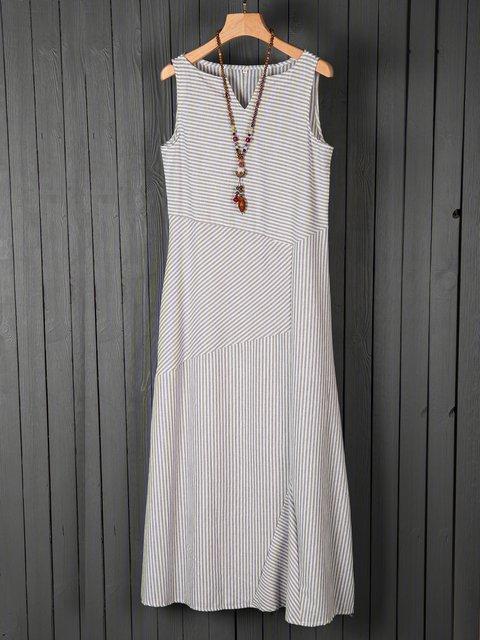 V Neck Women Dresses Holiday Cotton Dresses