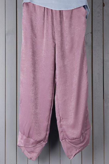Casual Linen Paneled Pants