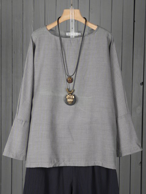 Women Blouses Batwing Long Sleeves Solid Casual Tops