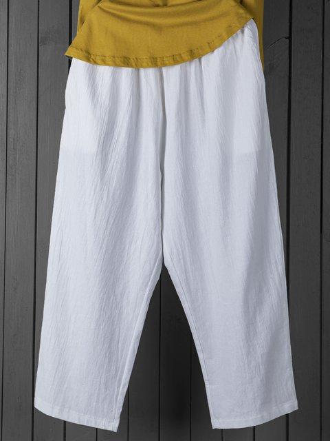 Women Summer Pants Casual Plain