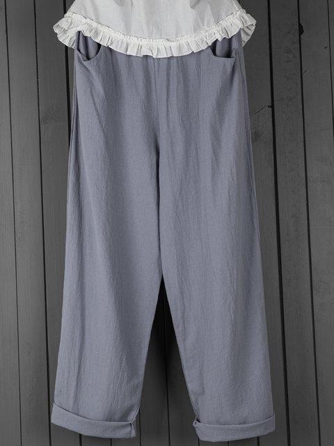 Summer Pockets Shift Casual Capri Pants