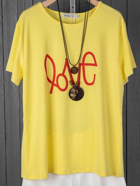 Short Sleeve Abstract Casual Shirts & Tops