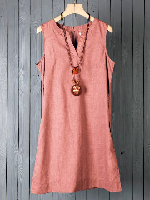 V Neck Coral Women Dresses Daily Paneled Dresses