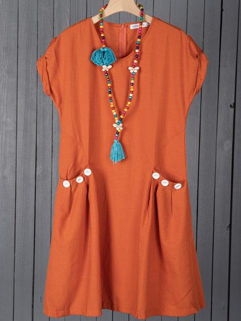 Women Dresses Shift Daily Casual Plain Dresses