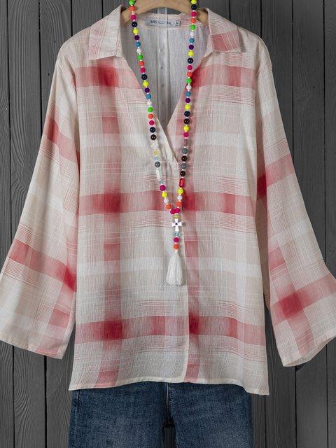 Polka Dots Spring Blouses Long Sleeve