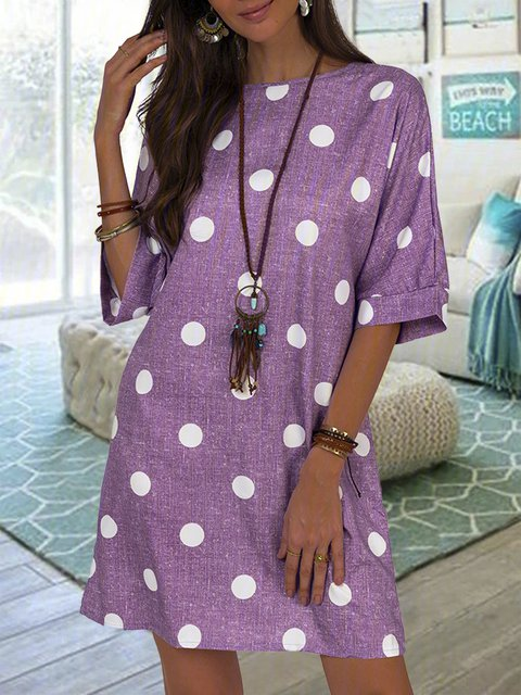 Polka Dots Shift Tunic Dresses