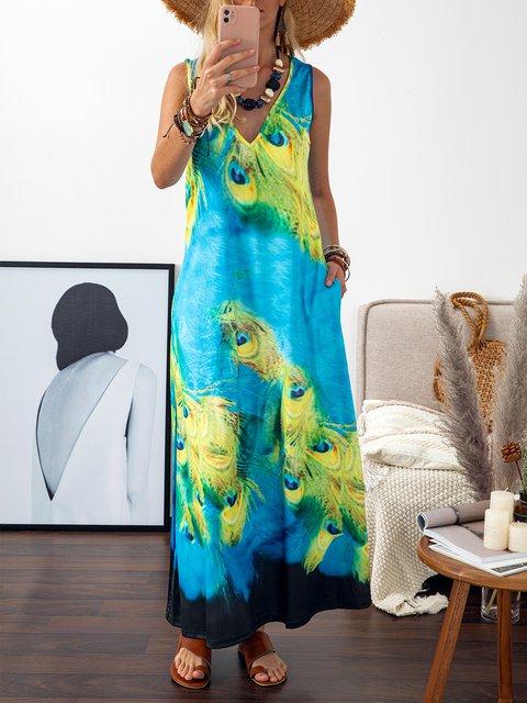 Vintage Dresses V Neck Women Dresses Shift Daily