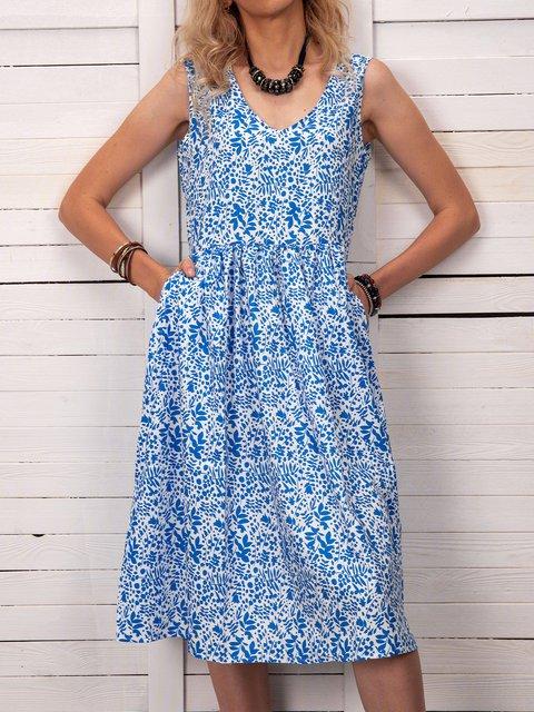 Women Floral Pockets Shift  Casual Summer Dresses