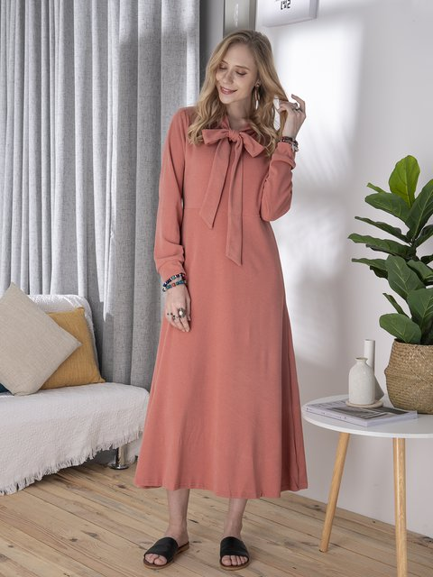 Women Casual Cotton-Blend Dresses