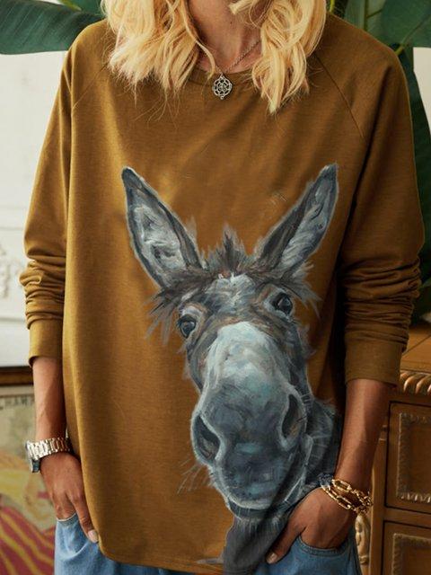 New Women Fashion Vintage Casual Long Sleeve Shift Shirts & Tops