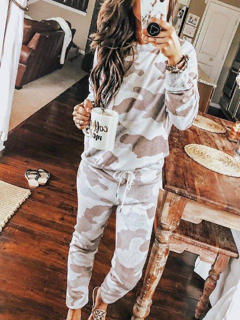 As Picture Geometric Casual Shift Suits