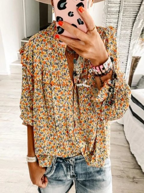 As Picture Shift Vintage Shirts & Tops