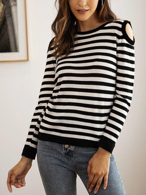 Black Long Sleeve Crew Neck Sweater