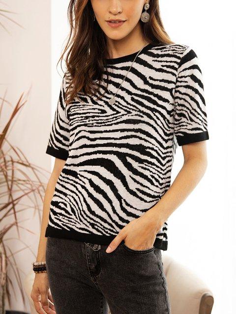 Black Cotton-Blend Sweater