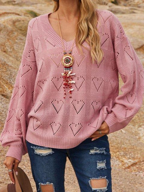 Pink Cotton-Blend Sweater