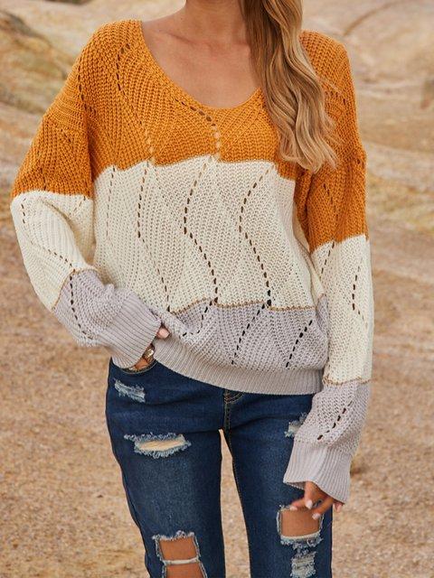Cotton-Blend Long Sleeve Sweater