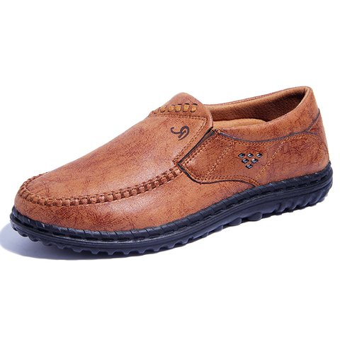 Men Microfiber Fabric Comfortable Slip On Casual Shoes