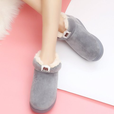 Daily Flat Heel Suede Cotton Women Boots