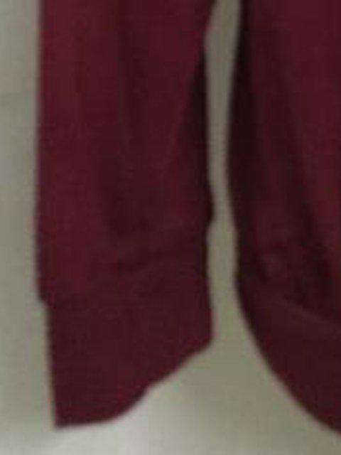 Casual Sleeve Plain V Long T Shirt neck U1cWpnnPZv