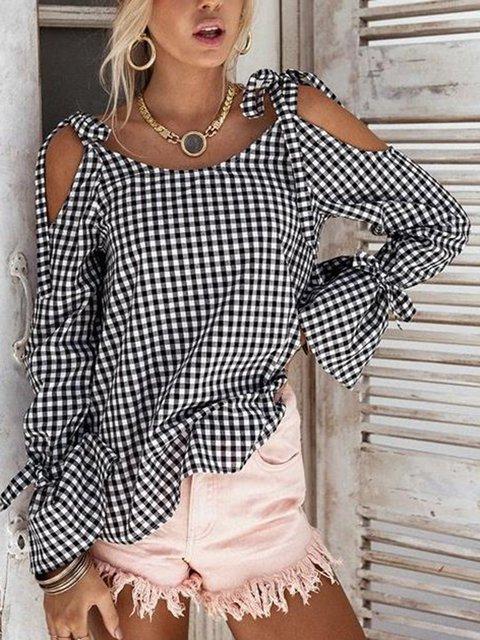 Shirts Casual amp; Cotton white Blouse blend Black xqIZ4Z