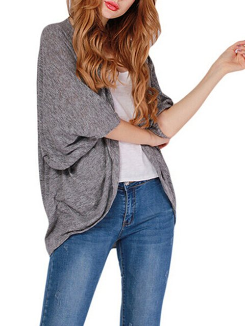Cotton Casual Cardigan Casual Batwing Casual Solid Batwing Solid Batwing Cardigan Cotton dqxxtPC