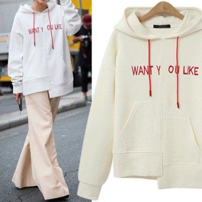 Hoody Sleeve Hoodie Chic blend Cotton Casual Long 8wZT7w