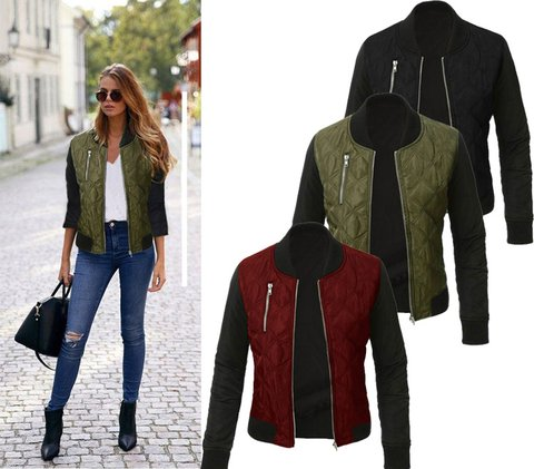 Long Sleeve Cotton-Blend Casual Jackets