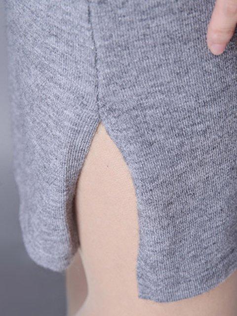 Dress Sleeve Long Striped Women Jersey Shift Daily Casual Casual Gray BAqUPRx