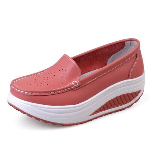 Women Outdoor PU Platform Loafers
