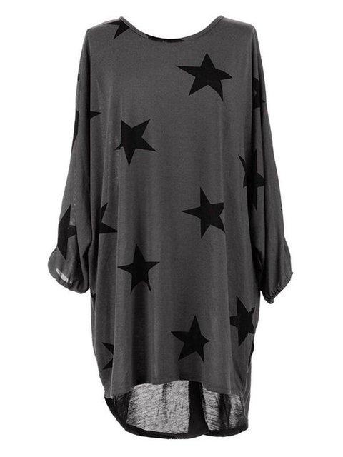 Low Long Printed High Summer Geometric Sleeve Casual Cotton Women Dress Daily 1FwwAnPq