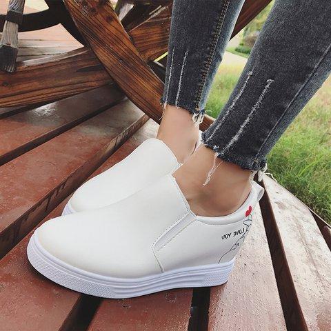 Comfortable PU Wedge Heel Loafers