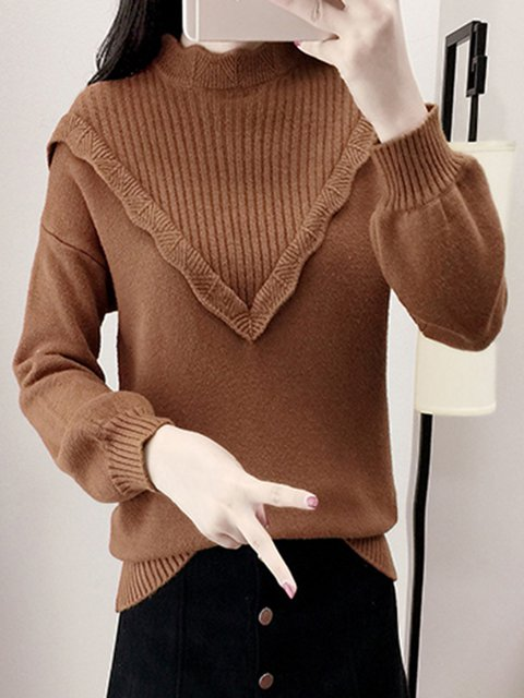 Knitted Sweet Turtleneck Sweater