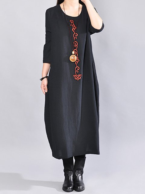 Women Daily Cotton Casual   Casual Dress