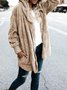 Hoodie Casual Batwing Reversible Shift Fluffy Teddy Bear Coat