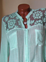 Long Sleeve Elegant Cotton Lace Stand Collar Paneled Plus Size Solid Shirts  Blouse