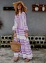 V Neck Women Summer Dresses Beach Cotton Tribal Dresses