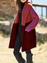Color-Block Long Sleeve Hooded Outerwear