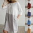 Shift Women Daytime 3/4 Sleeve Casual Color-block  Summer Dress