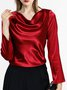 Ruched Daily Elegant Blouse