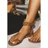Dress Leather Gladiator Chain Sandals