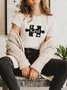 Vintage Short Sleeve Be Kind Puzzle Letter Printed Plus Size Casual Tops