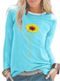 Long Sleeve Printed Floral Casual Shirts & Tops