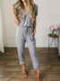 Solid Short Sleeve Casual One-Pieces