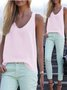 Casual Sleeveless Crew Neck Tanks