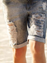 Plus size Denim Casual Denim Shorts