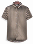 Striped Shirt Collar Casual Shirts & Tops