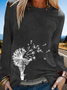 Floral Long Sleeve Casual Shirts & Tops