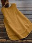 Womens Clothing Cotton Crew Neck Paneled Sleeveless Tanks
